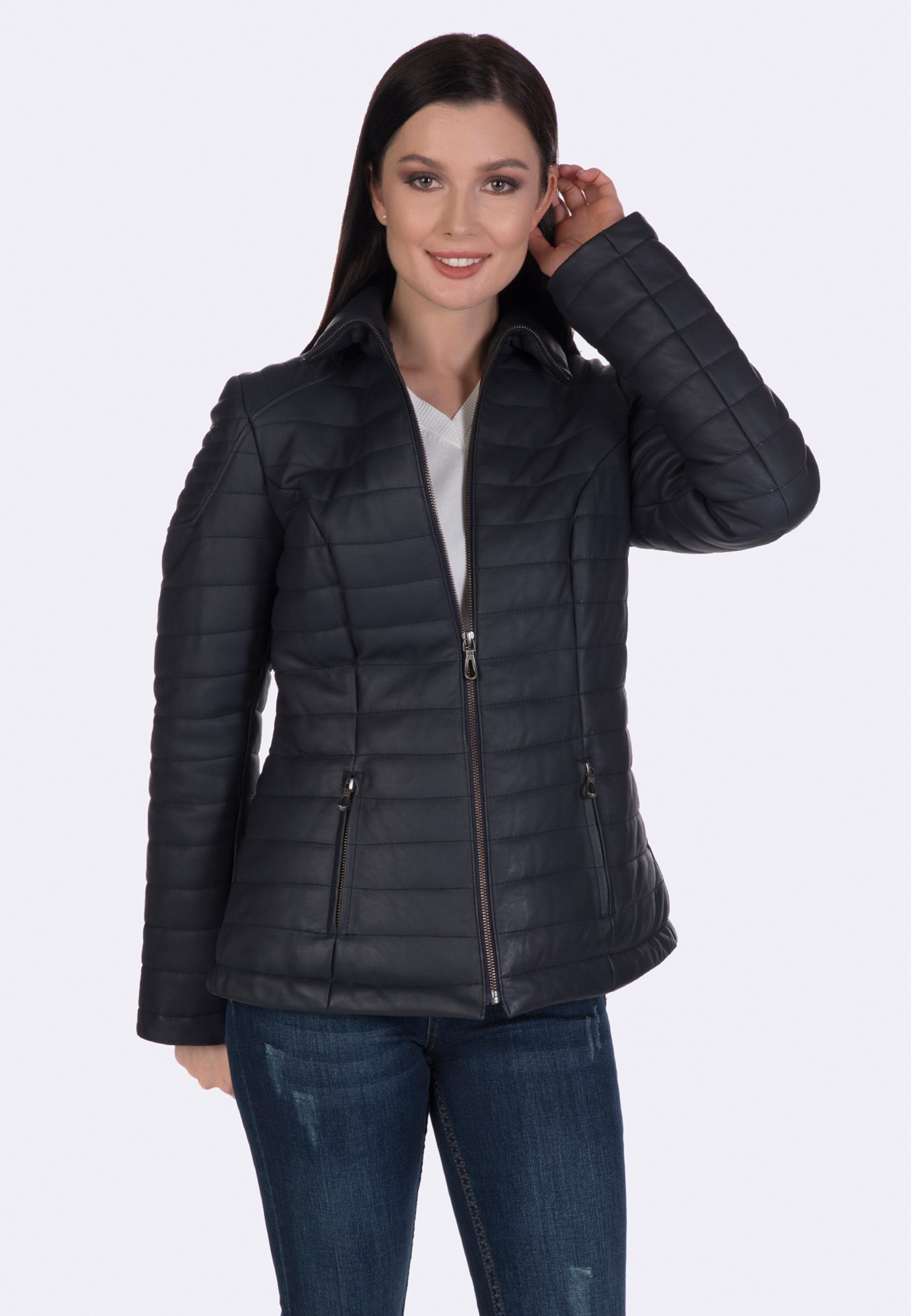 Femme Veste en cuir