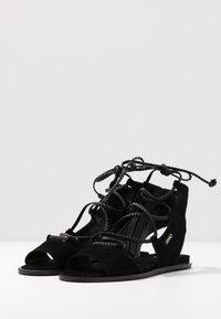Liu Jo Jeans - THEA  - Sandalias tobilleras - black - 4