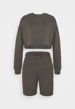 CROP CYCLING SET - Sweatshirt - dark grey