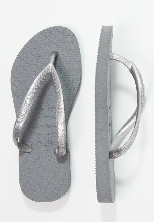 KIDS SLIM - Pool shoes - steel grey