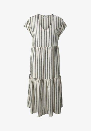 Day dress - black beige stripe