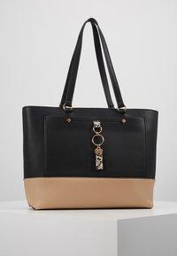 Dorothy Perkins - POCKET FRONT SHOPPER - Handbag - black/stone - 0