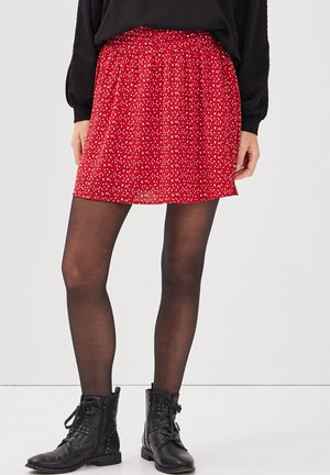MIT HOHER TAILLE - A-line skirt - rouge