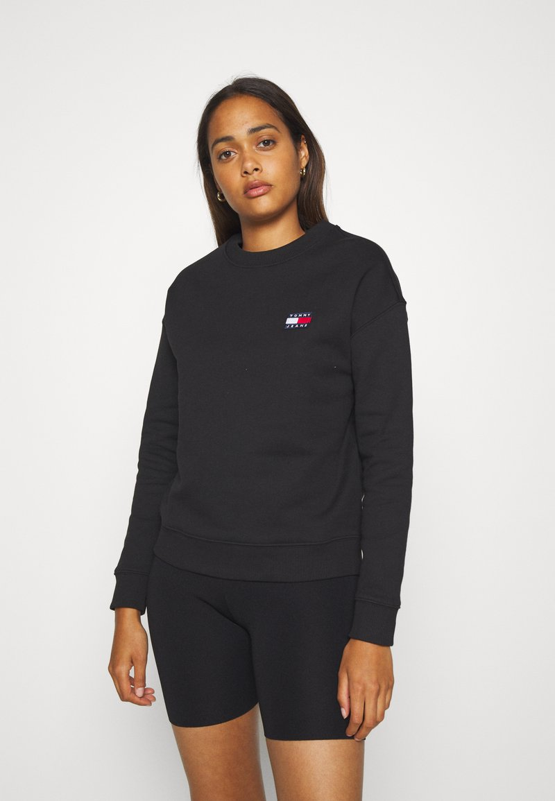 Tommy Jeans - BADGE  - Sweatshirt - black