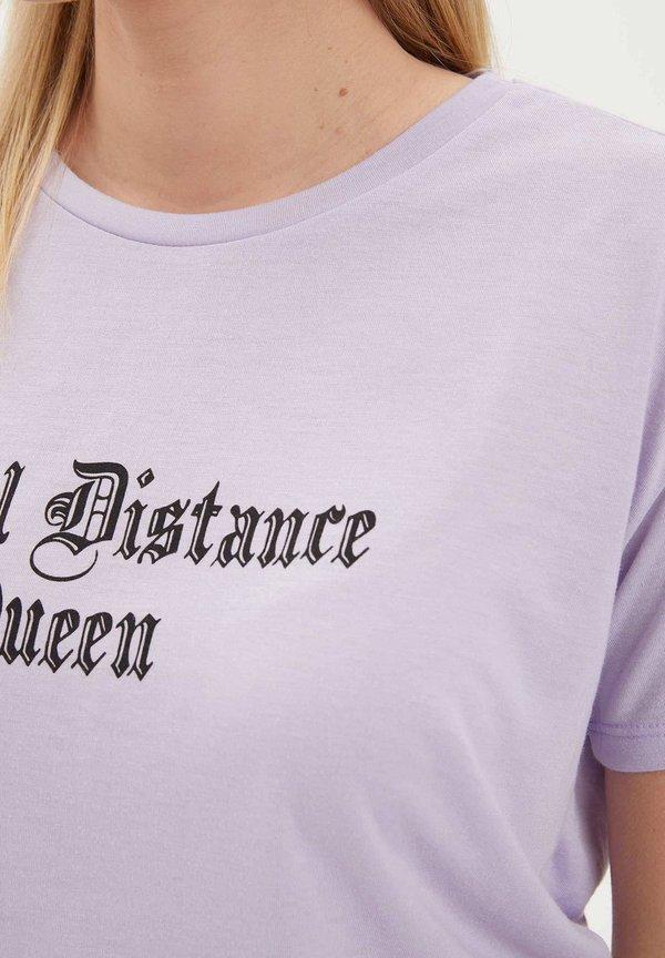DeFacto T-shirt z nadrukiem - purple Odzież Damska IRIZ FT 6