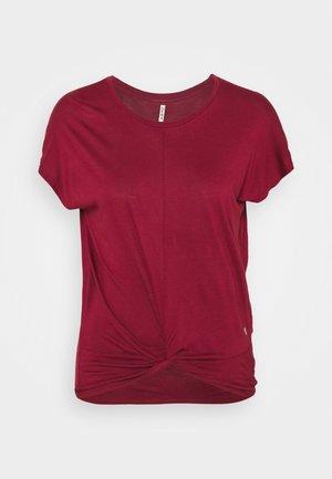 KNOT - T-shirt print - tango red