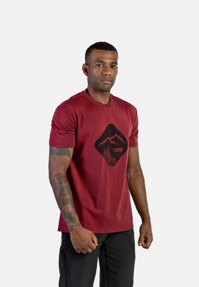 T-shirt con stampa - mineral red
