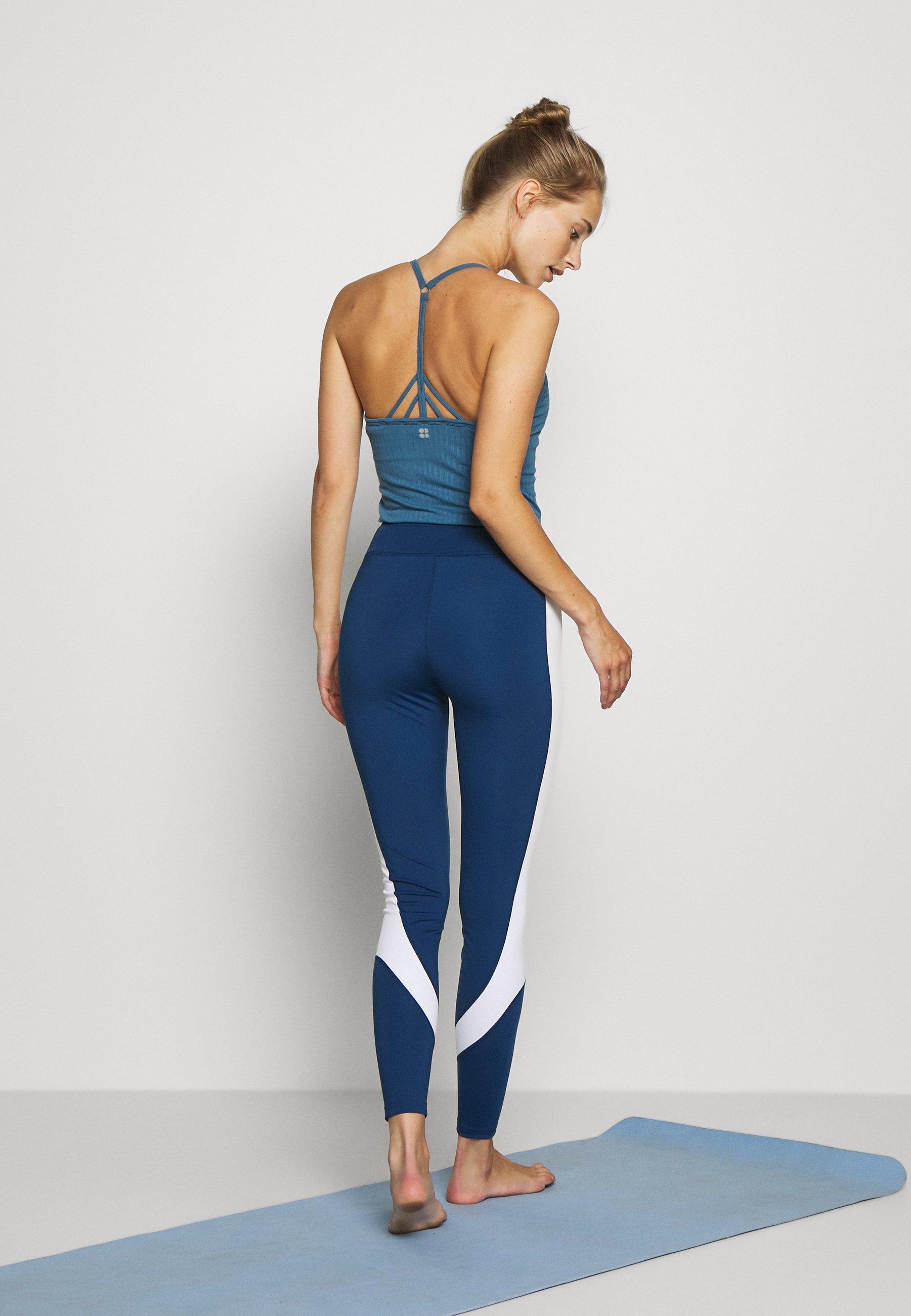 Even&Odd active Leggings - white/dark blue KGzwZ
