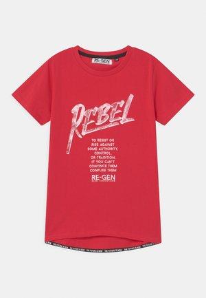 TEEN BOYS - Print T-shirt - tomato puree