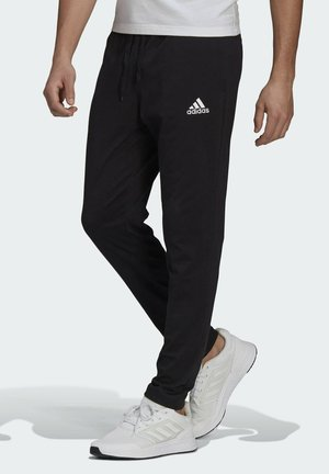ESSENTIALS TAPERED JOGGERS - Spodnie treningowe - black