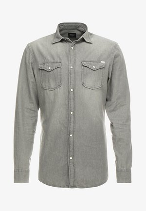 JJESHERIDAN SLIM - Shirt - light grey