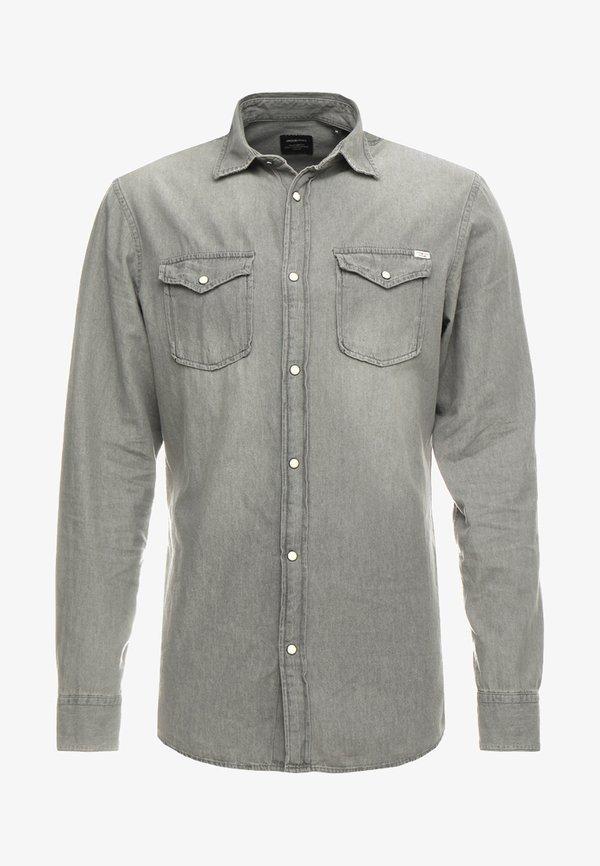 Jack & Jones JJESHERIDAN SLIM - Koszula - light grey/beżowy Odzież Męska OIEZ