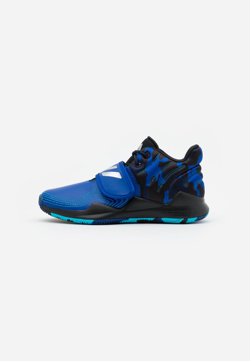 adidas Performance - DEEP THREAT CLOUDFOAM BASKETBALL SHOES - Basketbalové boty - royal blue/core black/collegiate navy