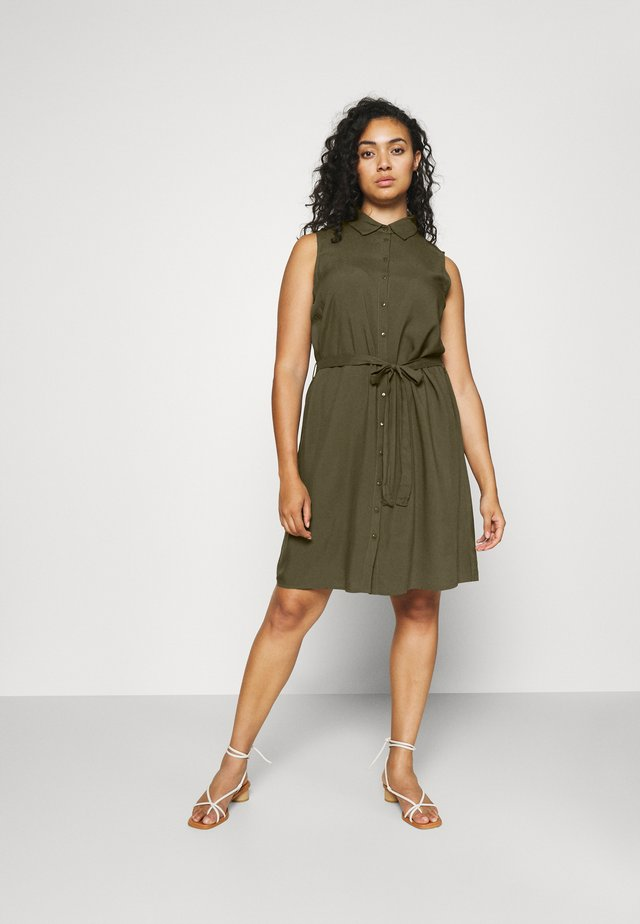 Skjortklänning - olive