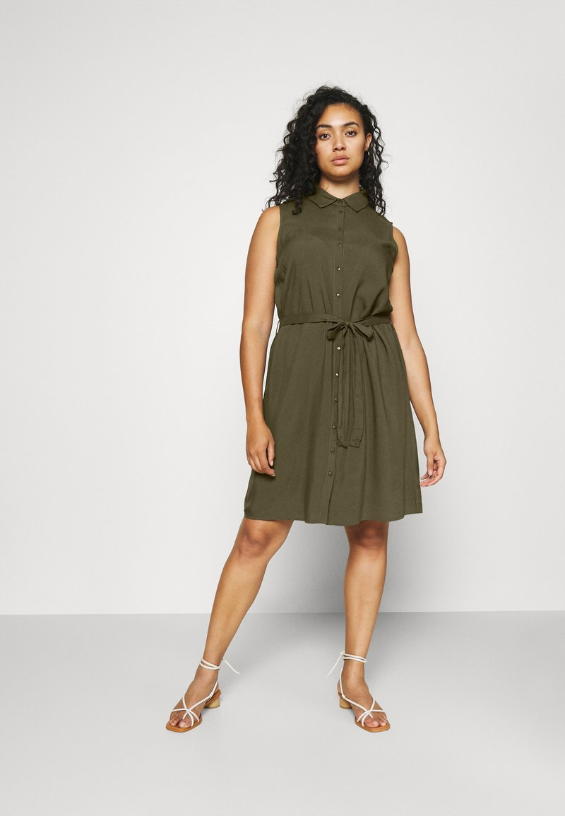 Anna Field Curvy - Shirt dress - olive