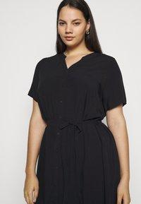 ONLY Carmakoma - CARTUKZU CALF SHIRT DRESS - Shirt dress - black - 3