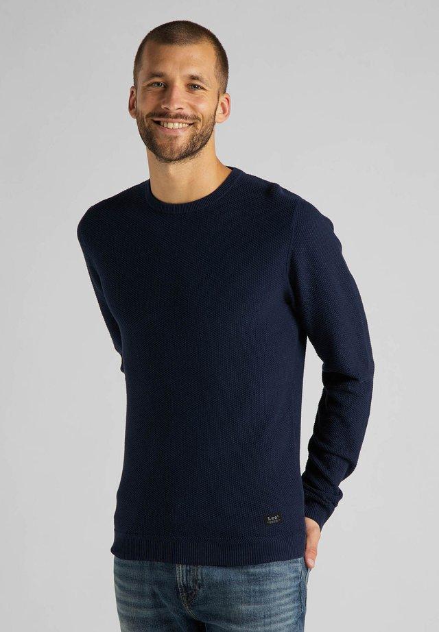 BASIC TEXTURED  - Sweter - sky captain