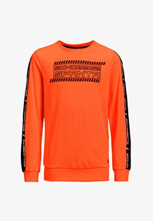 MET 3D-OPDRUK EN TAPE - Langærmede T-shirts - bright orange