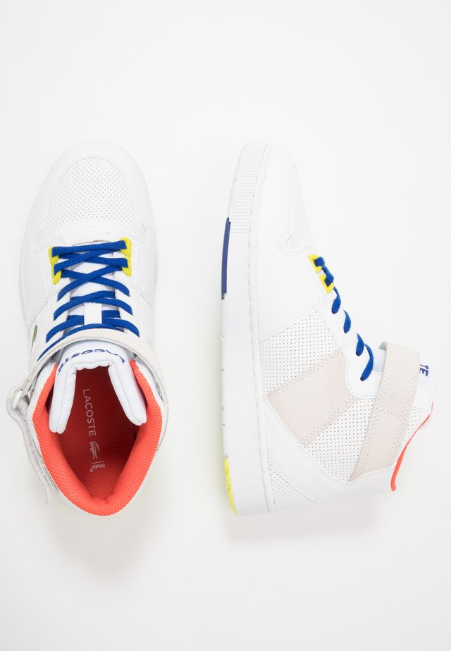 TRAMLINE MID - High-top trainers - white/yellow