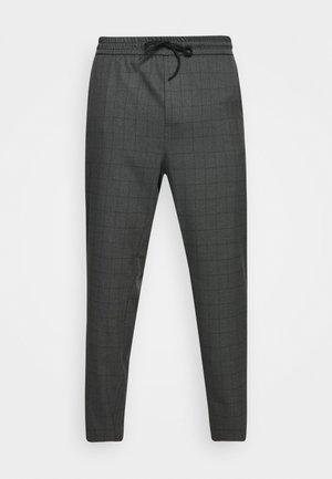 ONSLINUS LONG CHECK - Trousers - medium grey melange