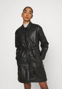Topshop - BELTED SHAKETT - Short coat - black - 0