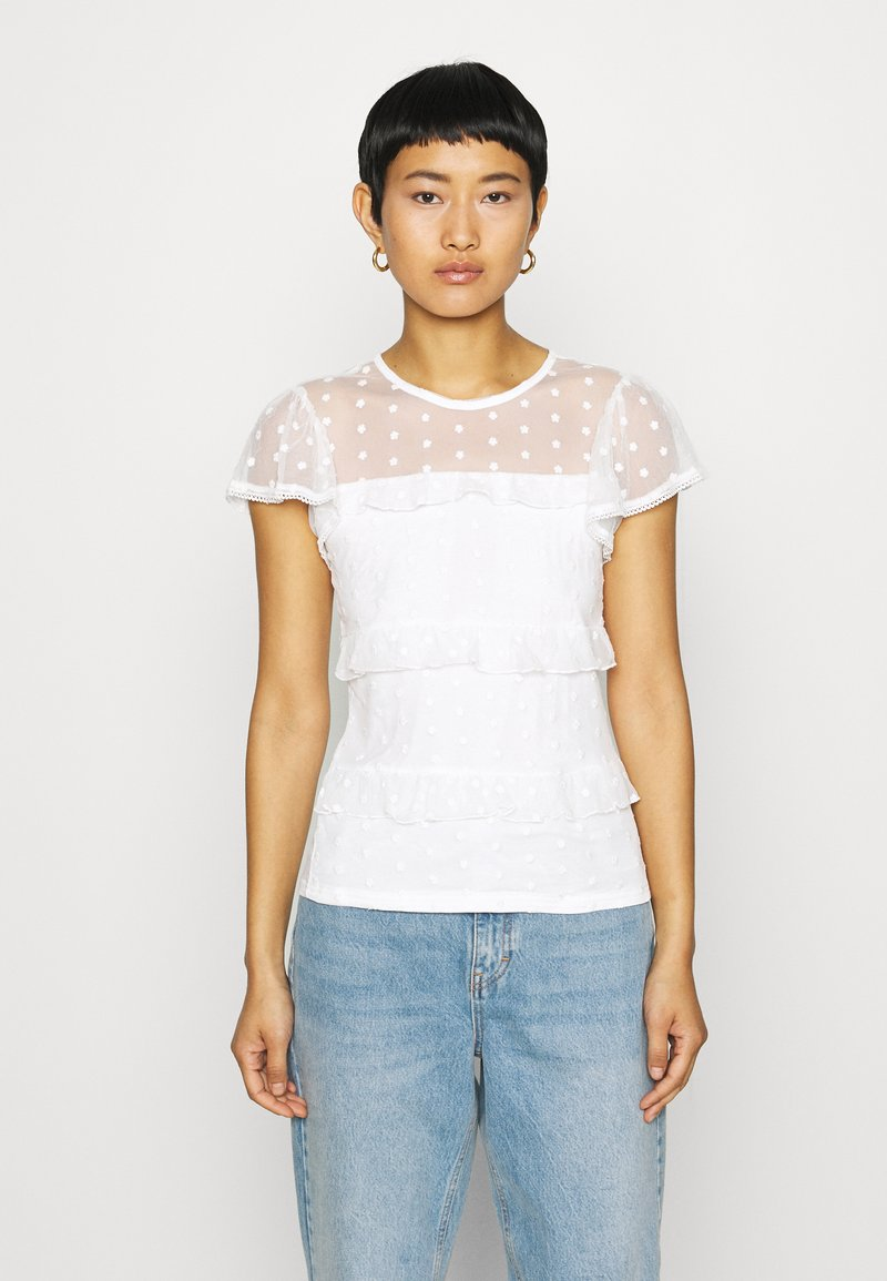 Dorothy Perkins - TIERED DOBBY  - Blouse - white