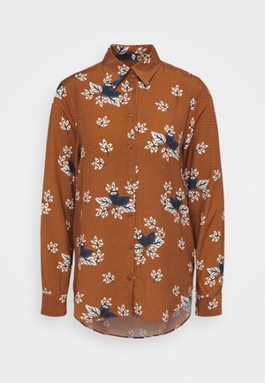 LANGARM - Button-down blouse - ginger bread