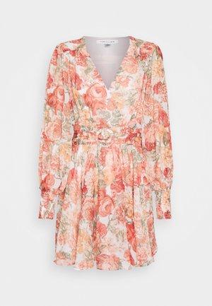 CLARA BELTED SKATER DRESS - Day dress - coral sunrise