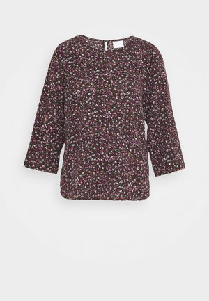 VIFLOWERY 3/4 SLEEVE TOP - Blouse - black