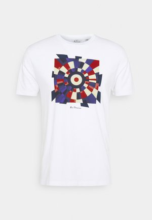 FRACTURED TARGET TEE - T-shirt print - white