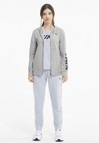 Puma - Zip-up hoodie - light gray heather - 1