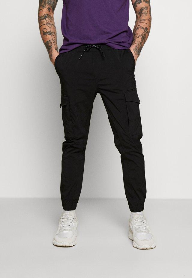 JJIGORDON JJFLAKE PANT - Cargo trousers - black