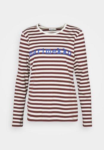 LOGO MARI TASARAITA SHIRT - Hemdbluse - wine red/light beige/blue