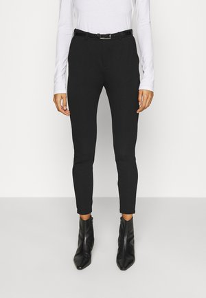 Punto Smart Trouser With Belt - Kalhoty - black