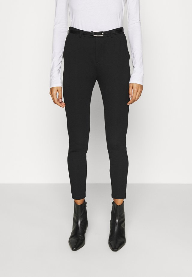 Punto Smart Trouser With Belt - Trousers - black