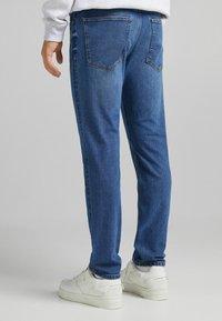 Bershka - SLIM - Jeans slim fit - dark blue - 2