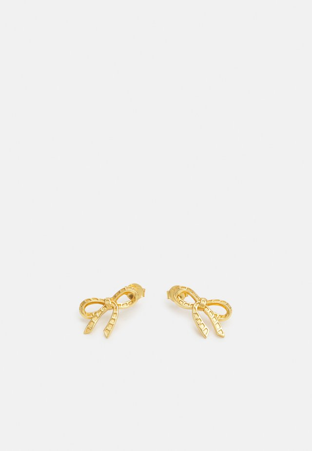 BOW STUD EARRINGS - Oorbellen - gold-coloured