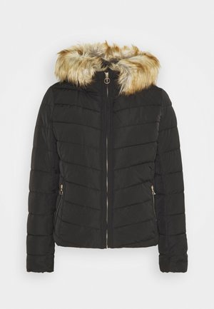 ONLNEW ELLAN QUILTED HOOD JACKET - Light jacket - black/nature
