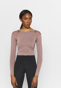 ONLY Play - ONPJABRIL SHORT - Long sleeved top - deep taupe - 0