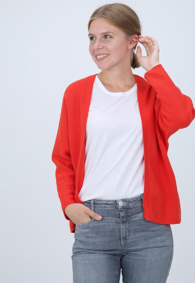 SET - MIT STRUKTUR - Cardigan - red