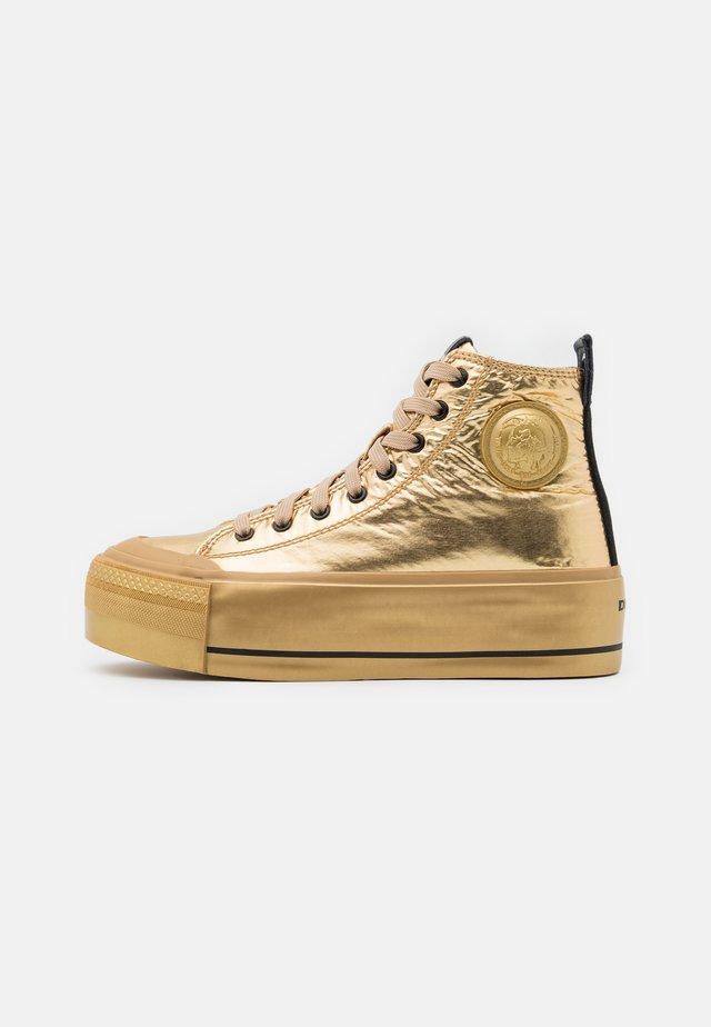 ASTICO S-ASTICO MC WEDGE SNEAKERS - Zapatillas altas - gold