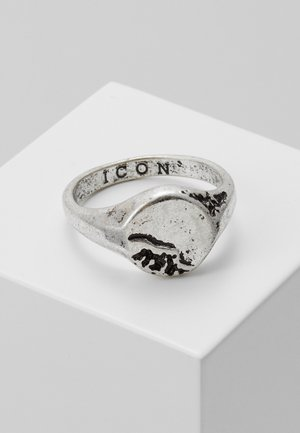 ERODED SIGNET - Ring - silver-coloured