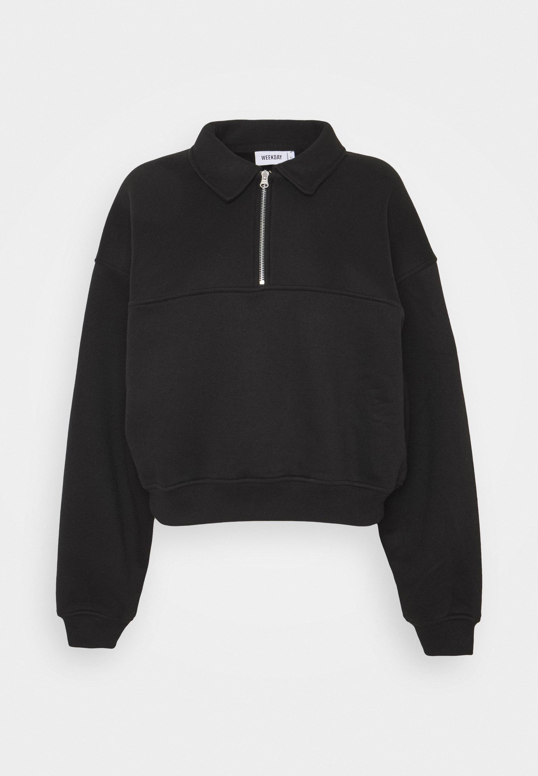 Weekday Zaylee - Sweatshirt Black/svart