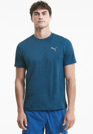RUN FAVORITE TEE - T-shirt imprimé - digi-blue heather