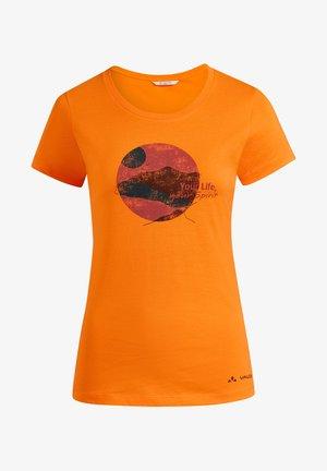 SPIRIT - Print T-shirt - orange
