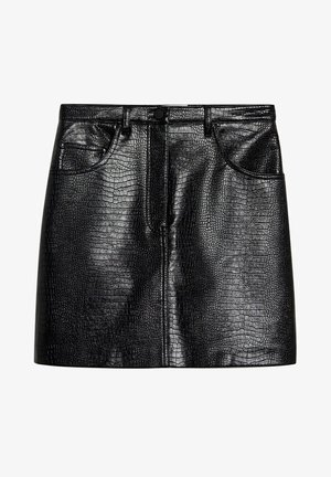 CROCO - Mini skirt - black