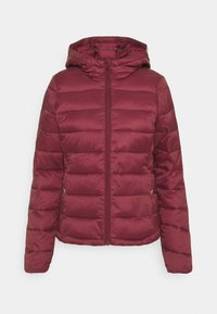 ONLY - ONLSANDIE QUILTED HOOD JACKET - Lett jakke - pomegranate - 3