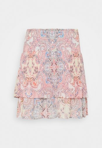 ONLALLY SMOCK LAYERED SKIRT - Mini skirt - sugar coral/desert