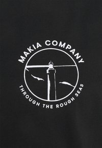 Makia - FYR - Triko spotiskem - black - 2