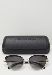 Alexander McQueen - Sunglasses - black/gold-coloured/grey - 3